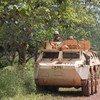 Convoy de la Misión Multidimensional Integrada de Estabilización de las Naciones Unidas en la República Centroafricana (MINUSCA).