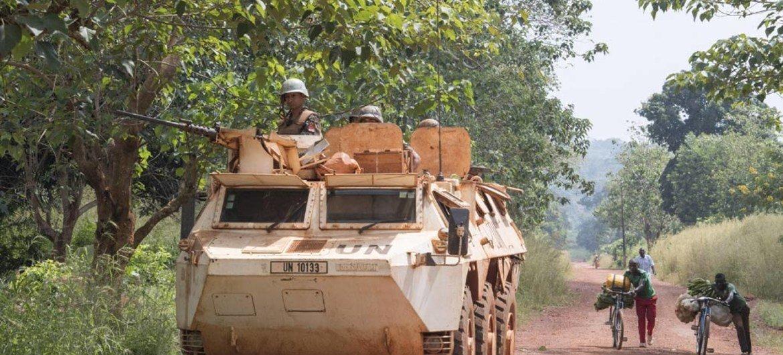 Des Casques bleus de la MINUSCA en République centrafricaine (archives). Photo ONU/Eskinder Debebe