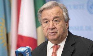 Le Secrétaire général de l'ONU, António Guterres (archives). Photo ONU/Mark Garten