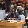 Michel Kafando, Mjumbe Maalum wa Katibu Mkuu wa Umoja wa Mataifa kuhus Burundi akihutubia Baraza la Usalama.