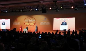 Envoy of the Secretary General on South South Cooperation Jorge Chediek at the opening of the Global South South Development Expo in Antalya, Turkey.