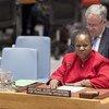 Bintou Keïta, Sous-Secrétaire générale aux opérations de maintien de la paix, devant le Conseil de sécurité. (archives)