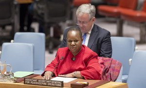 Bintou Keita, Assistant Secretary-General for UN Peacekeeping Operations, addresses the Security Council.