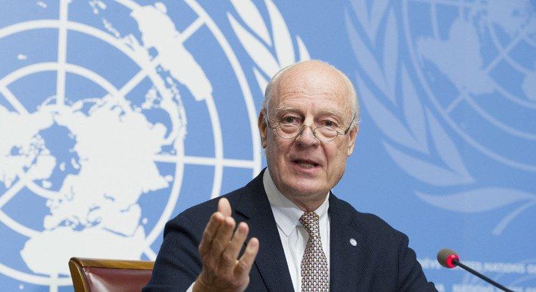 El enviado especial de la ONU para Siria, Staffan de Mistura.
