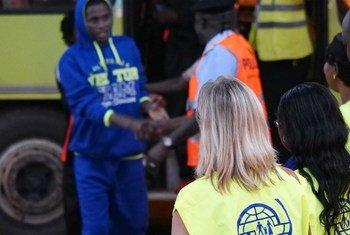 Le mardi 29 novembre 2017, un vol affrété par l'OIM depuis la Libye, transportant 155 migrants guinéens, a atterri à Conakry (archives).
