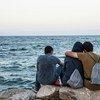 Migrantes en Lesbos.