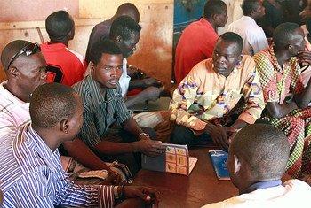 Des ex-combattants lors d'une session de formation à Bangui, la capitale de la République centrafricaine (RCA)