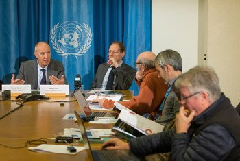 WIPO Director General Francis Gurry launches the annual World Intellectual Property Indicators (WIPI) report at a news conference at the United Nations Office in Geneva.