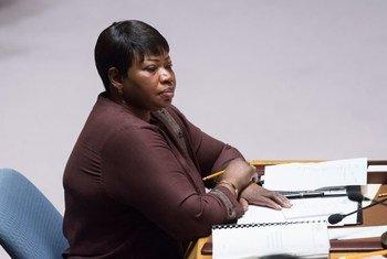 La Procureure de la Cour pénale internationale (CPI), Fatou Bensouda, devant le Conseil de sécurité.