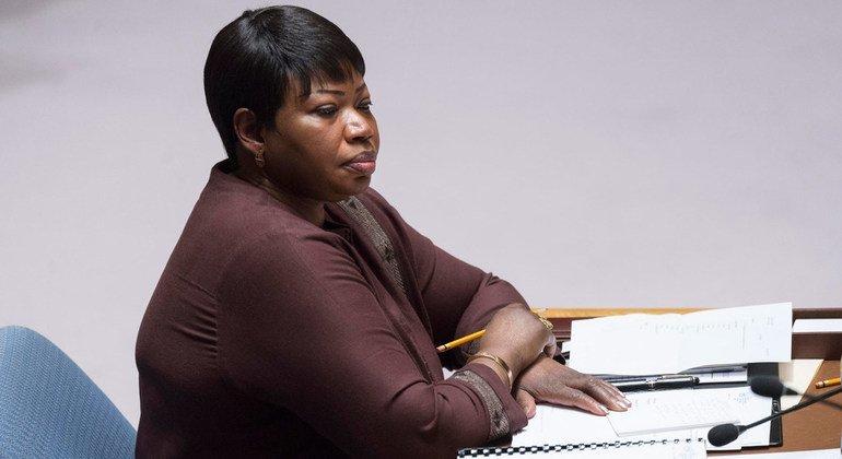 Fatou Bensouda, la fiscal de la Corte Penal Internacional, durante una reunión del Consejo de Seguridad