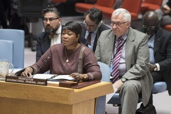 Fatou Bensouda, Chief Prosecutor for the International Criminal Court (ICC), during the Security Council on the situation in Sudan and South Sudan.
