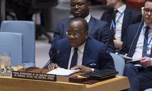 Le chef du Bureau régional des Nations Unies pour l'Afrique centrale (UNOCA), François Louncény Fall, devant le Conseil de sécurité de l'ONU (photo d'archives)
