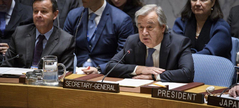 Secretary-General Antonio Guterres addresses the Security Council on non-proliferation / DPRK.