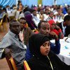 Participants attend the Somali National Youth Conference held in Mogadishu, Somalia (December 2017).