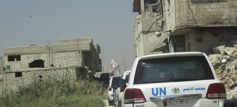 قافلة إنسانية متوجهة إلى دوما-الغوطة الشرقية.