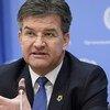 Miroslav Lajcák, le Président de la 72e session de l'Assemblée générale présente ses priorités pour 2018 lors d'une conférence de presse de fin d'année. Photo : ONU / Manuel Elias