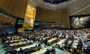 Wide view of the General Assembly Hall.