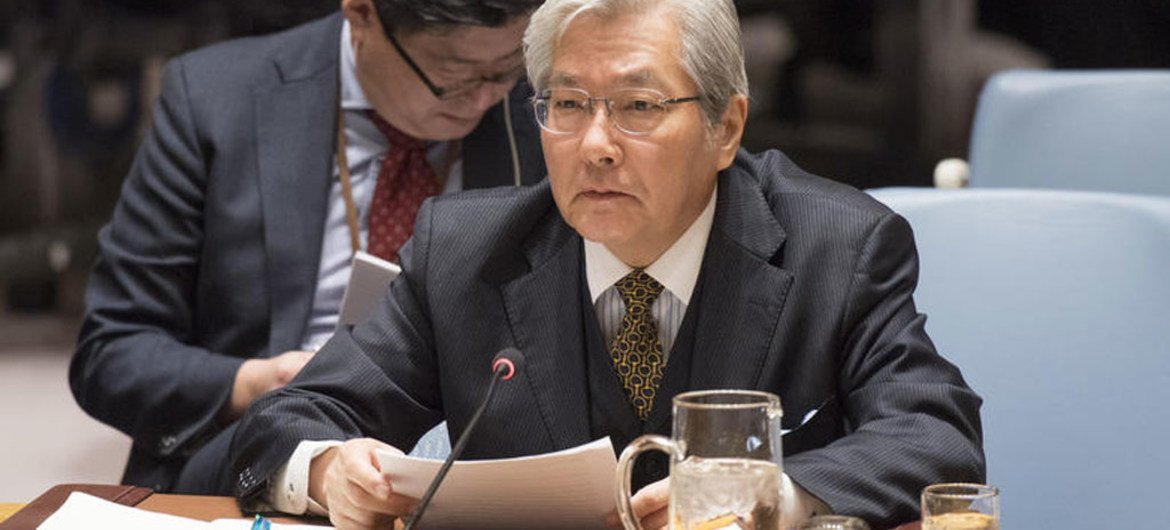 Tadamichi Yamamoto, Special Representative of the Secretary-General and Head of the United Nations Assistance Mission in Afghanistan (UNAMA), briefs the Security Council on the report of the Secretary-General on the situation in Afghanistan and it's implications for international peace and security.
