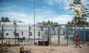 An asylum-seeker enters the 'Regional Processing Centre' on Manus Island, Papua New Guinea. (file)