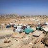 Un site de personnes déplacées dans le gouvernorat d'Amran, au Yémen. (archive) Photo : Giles Clarke pour OCHA