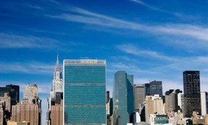 Здание штаб-квартиры ООН в Нью-Йорке.