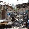 La ville de Saada, au Yémen, a été fortement touchée par des frappes aériennes depuis l'escalade du conflit (archives). Photo: OCHA / Philippe Kropf