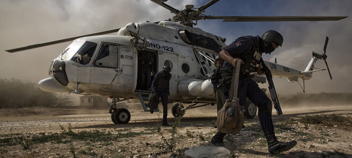 The United Nations Stabilization Mission in Haiti (MINUSTAH) works to deliver election materials and to deploy security personnel ahead of elections scheduled for 29 January 2017.