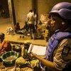 Uma policial da Minusma durante patrulha em Timbuktu
