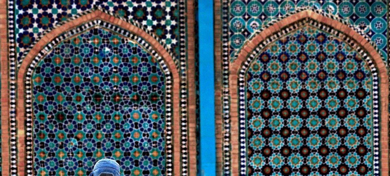 Mesquita de Mazar-e Sharif, no Afeganistão
