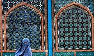 Mesquita de Mazar-e Sharif, no Afeganistão. A ONU também tem um plano para salvaguardar locais religiosos.