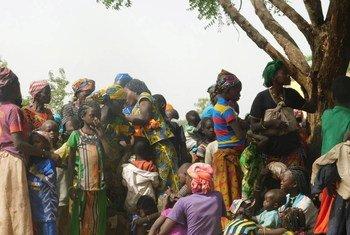 Des réfugiés, principalement des femmes et des enfants, ayant fui au Tchad des violences dans le nord-ouest de la République centrafricaine. Photo HCR/Ezzat Habib Chami