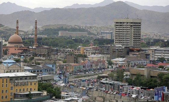 Вид на город Кабул - столицу Афганистана