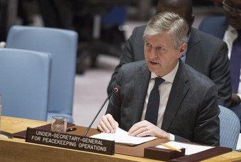 Jean-Pierre Lacroix, Secrétaire général adjoint aux opérations de maintien de la paix, devant le Conseil de sécurité.
