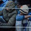 Des migrants secourus à bord d'un navire des garde-côtes libyens