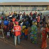 Burundian refugees arriving from a transition camp in Nyanza are processed at Mahama camp in Rwanda's Eastern Province. (file)