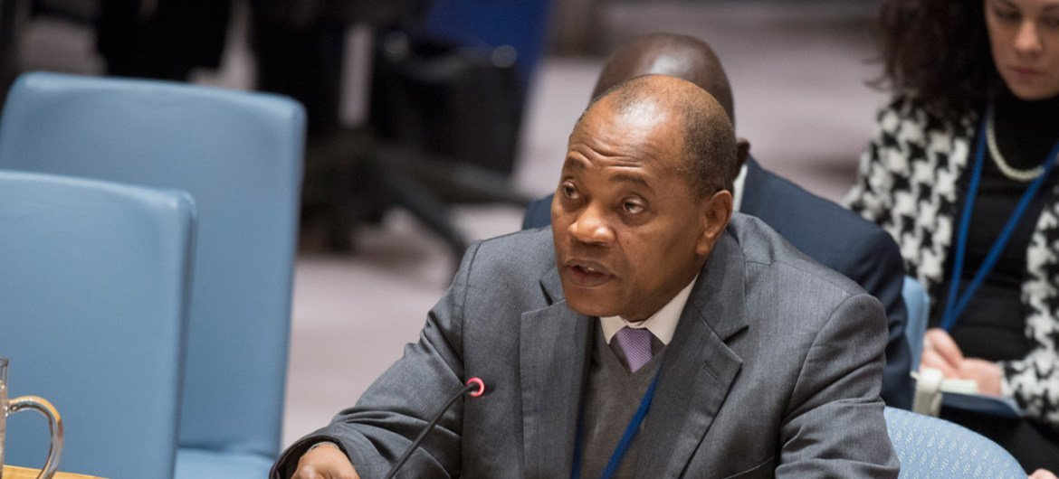 Mohammed Ibn Chambas, Special Representative of the Secretary-General and Head of the UN Office for West Africa and the Sahel, briefs the Security Council.