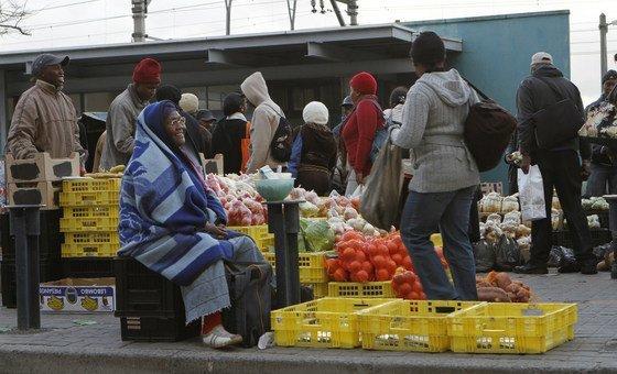 Comerciantes em Cape Town