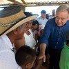 古特雷斯1月14日访问哥伦比亚梅塞塔市哥伦比亚革命武装力量成员所在的一个营地。图片:Juan Manuel Barrero Bueno