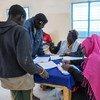 Des migrants enregistrés dans un centre de transit à Agadez, au Niger. (archive)