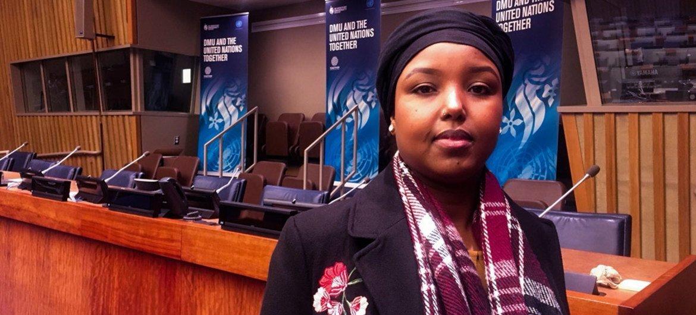 ZamZam Yusuf at UN Headquarters in New York.