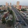 Vue du centre-ville de Kinshasa, la capitale de la République démocratique du Congo.