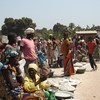 Displaced women and children gathered at an IDP site in Paoua town, Central African Republic. (file photo)