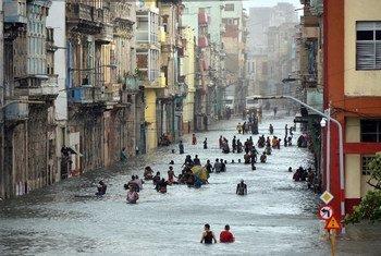 La ville de la Havane, à Cuba, suite au passage de l'ouragan Irma.