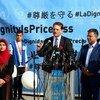 """联合国近东救济工程处在加沙发起""""尊严无价""""的募捐运动。"""