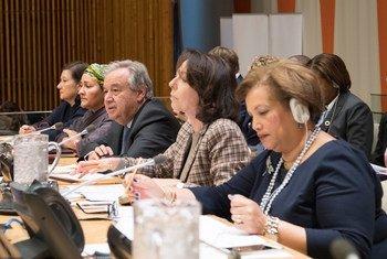 秘书长古特雷斯就联合国发展系统阐述愿景。联合国图片/Eskinder Debebe