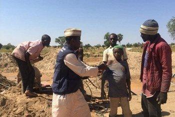 Campanha de vacinação em Zamfara, Nigéria.