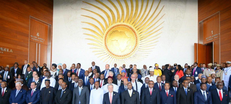 El Secretario General de la ONU, Antonio Guterres, en la ceremonia de inauguración de la 30a Asamblea de la Unión Africana.
