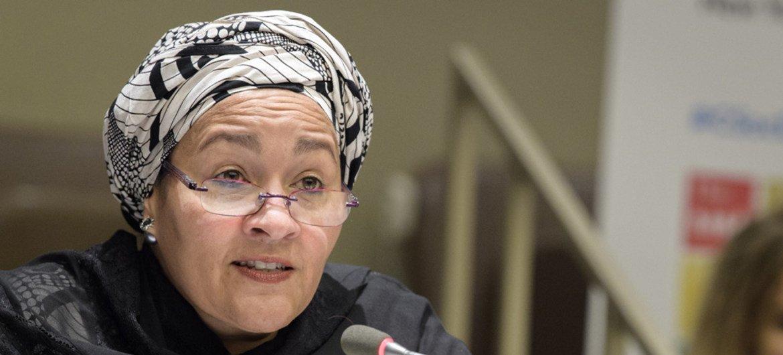 La Vice-Secrétaire générale des Nations Unies, Amina J Mohammed.
