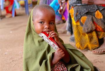 Four-year-old Faylow is one of the 160,000 children treated for severe malnutrition by UNICEF in Somalia in 2017.