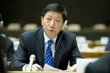 中国常驻联合国副代表吴海涛资料图片